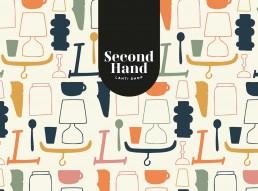 Second Hand Lahti Shop logo ja tapettikuosi