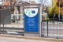 Liikkujan viikon mainos bussipysäkillä