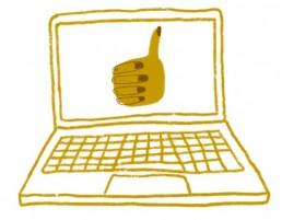 Tietokone-ikoni graafinen suunnittelu
